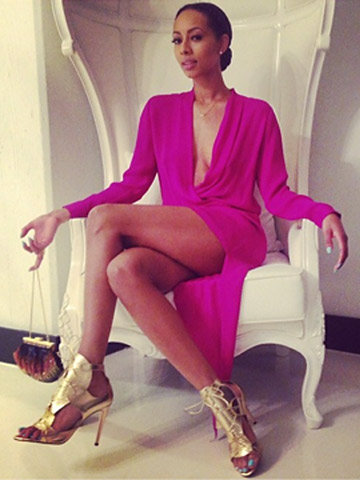 Keri Hilson sitting pretty in Conqueror Gold by Marion Ayonote image