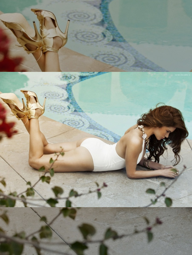 Fashion TV:  Model Tal Berkovitch in Marion Ayonote Conqueror Gold image