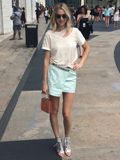 Style influencer Whitney Port wears Ayonote at New York Fashion Week image