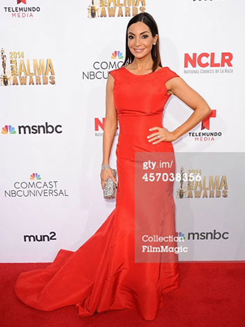 Extra's Courtney Lopez Wears Ayonote – Alma Awards, Pasadena, Ca image