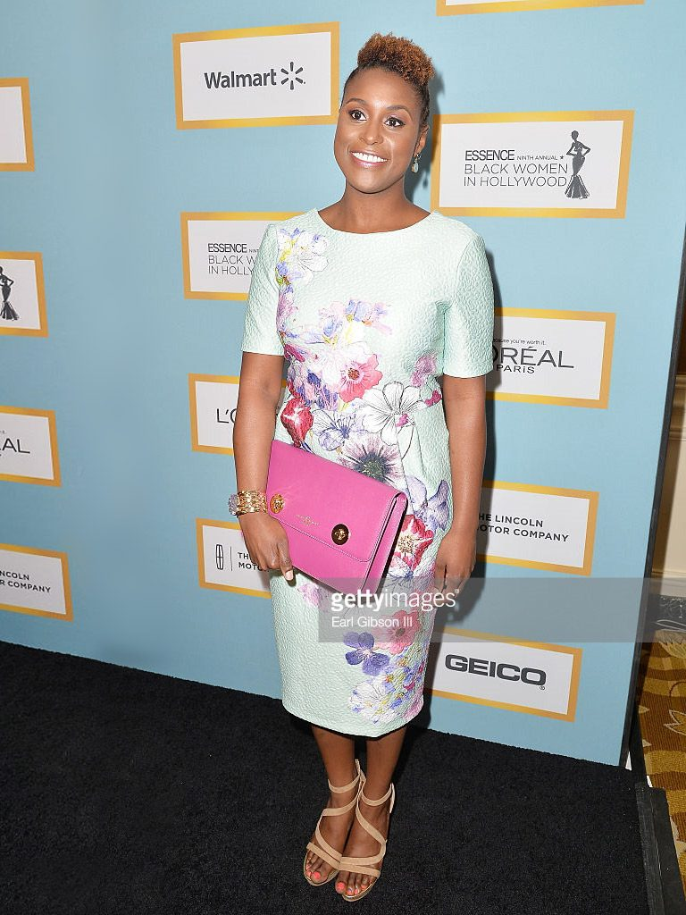'Comedian Issa Rae carries The Issoria Clutch' to Essence magazine's 'ladies lunch' in Beverly Hills image