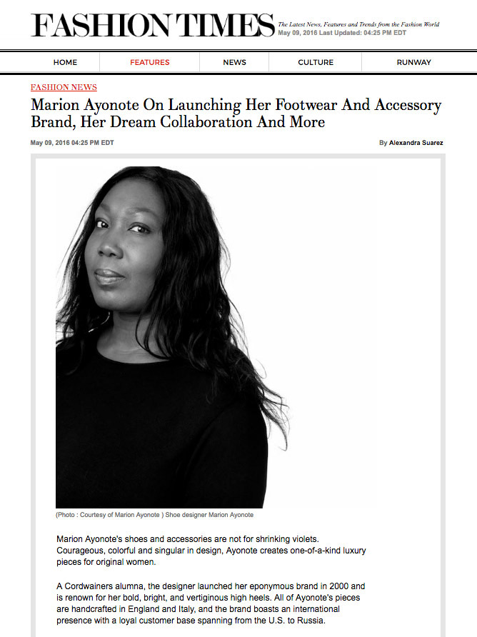 Marion Ayonote Fashion Times Interview image