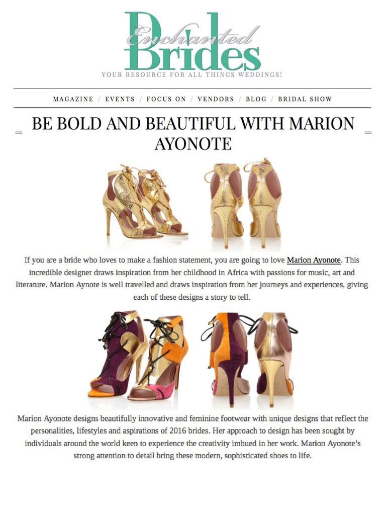 Be Bold and Beautiful with Marion Ayonote – EnchantedBrides.com image