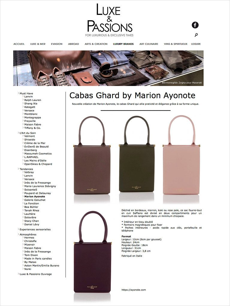 Ghard Shoulder Bags featured in Luxe & Passions image