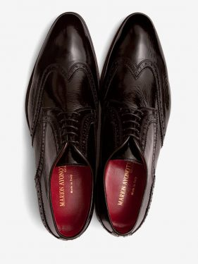 'Bruce' Wing Tip Brogue Black