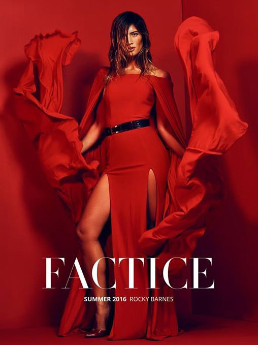 Factice Magazine cover features Rocky Barnes in Apple by Marion Ayonote image