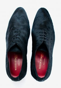 'Hassan' Pony Hair Oxford Shoe Black