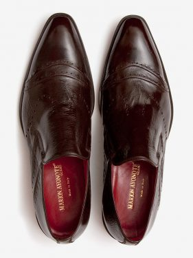 'Sarki' Polished Leather Loafer Brown