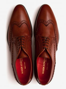 'Bruce' Wing Tip Brogue Tan