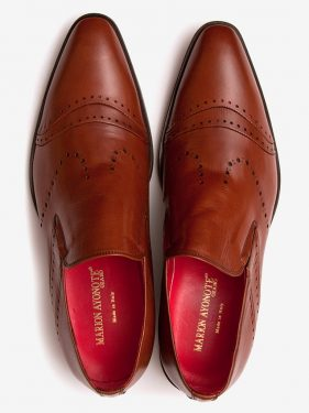 'Sarki' Polished Leather Loafer Tan