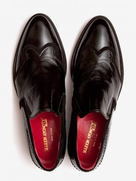 'Hussein' Polished Leather Loafer